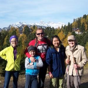 Vertsfamilie med elev FOTO YFU